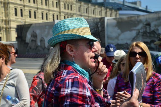 Marina, a guia que nos acompanhou em Moscou
