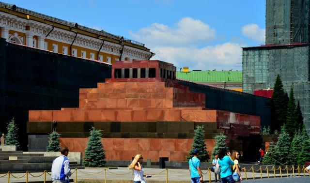 O Mausoléu de Lenin.