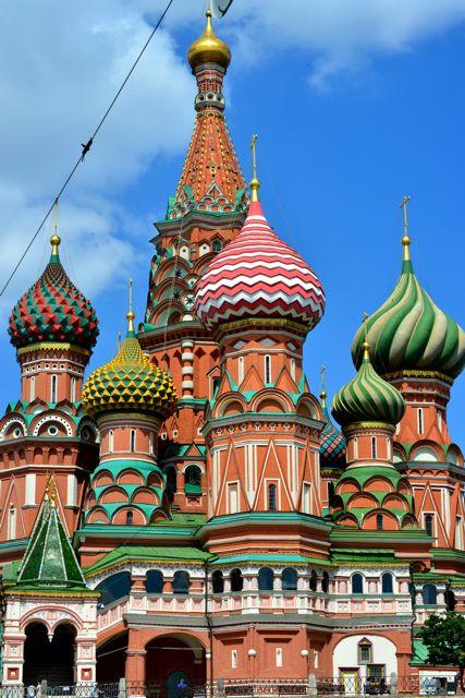 As cúpulas coloridas são a marca da Cadedral de São Basílio