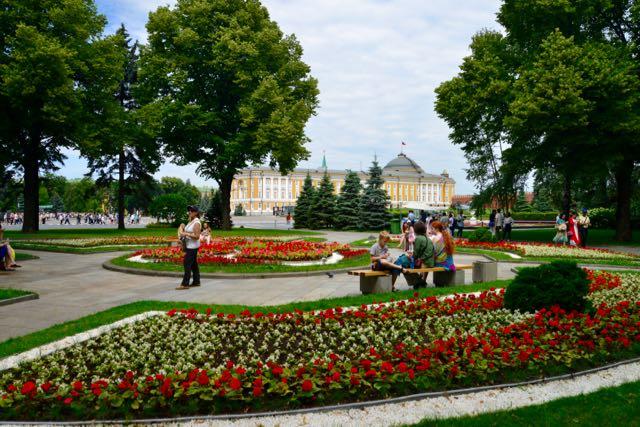 Jardins na área interna do Kremlin
