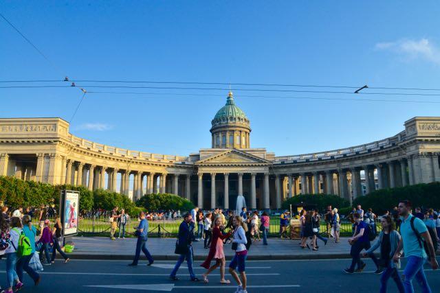 A Catedral da Virgem de Kazan em São Petersburgo.