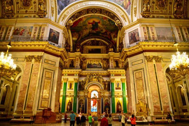 O rico interior da Catedral