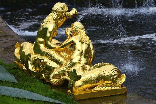 Detalhes do Jardim de Peterhof