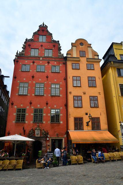 Os edifícios coloridos são um marco para Estocolmo.