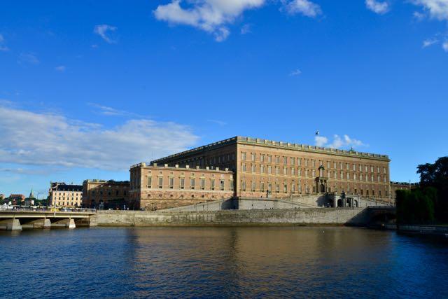 O Palácio Real de Estocolmo.