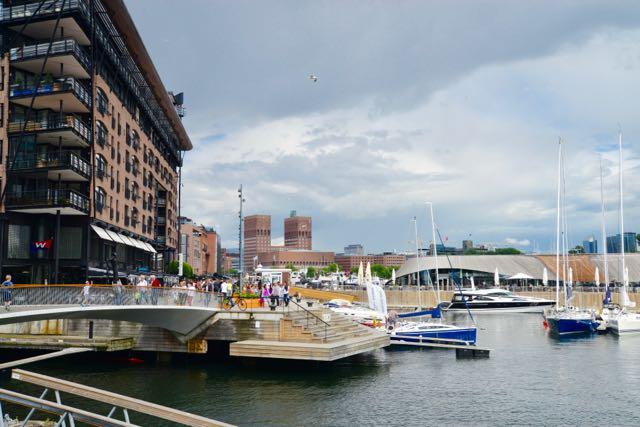 A cidade e o Fiorde de Oslo.