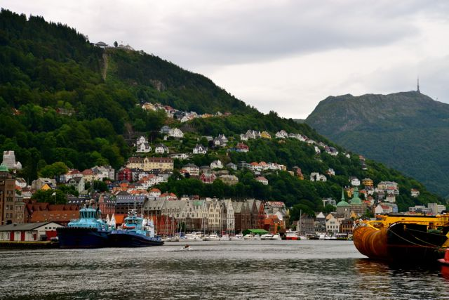 A cidade de Bergen.