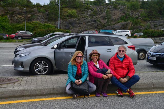 À espera do ferry-boat