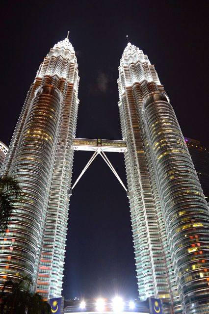 As Petronas Towers à noite