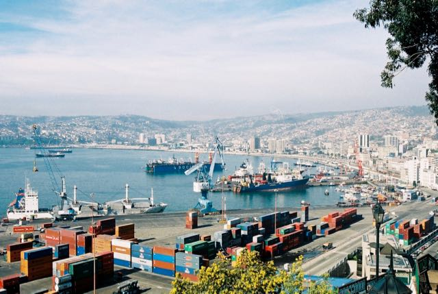 O porto de Valparaiso já teve um papel estratégico no passado.