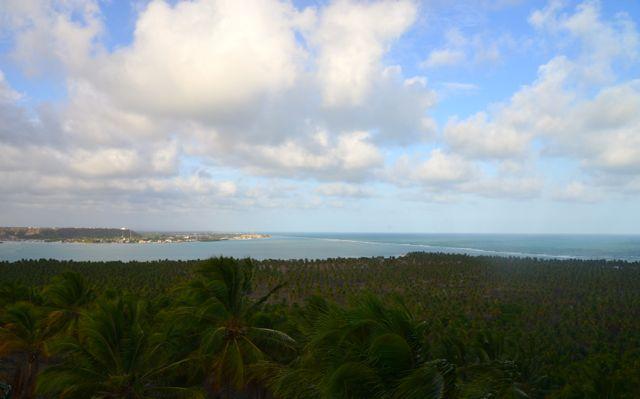 A estrada para Maceió vai bordejando o litoral.
