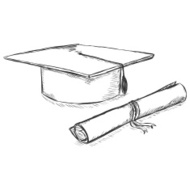 42133500-vector-sketch-academic-hat-and-diploma