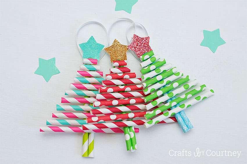 елки из бумажных трубочек своими руками