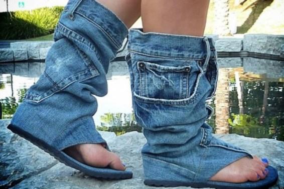 Sandália jeans