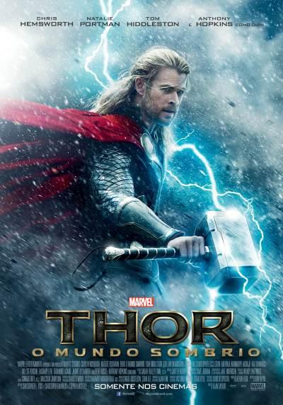 """""""Thor - O Mundo Sombrio"""" - poster brasileiro"""