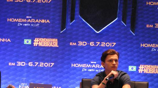 Tom Holland e Laura Harrier no Brasil