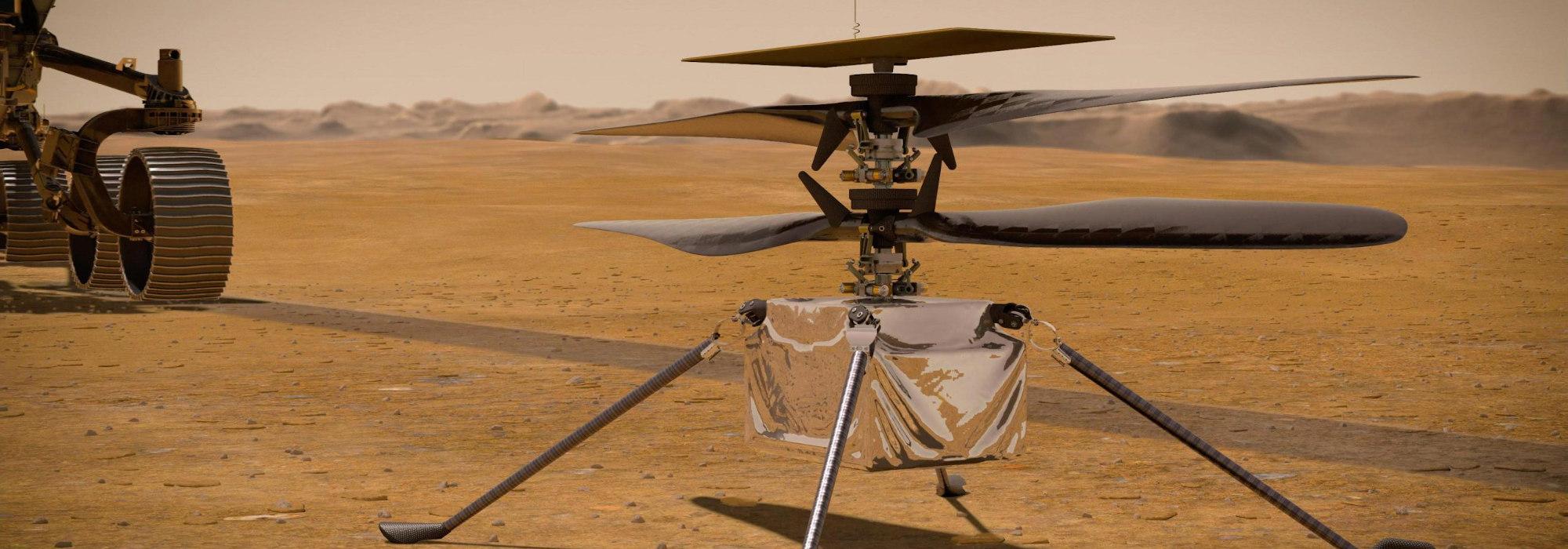 Mars Helikopteri Mars'ta