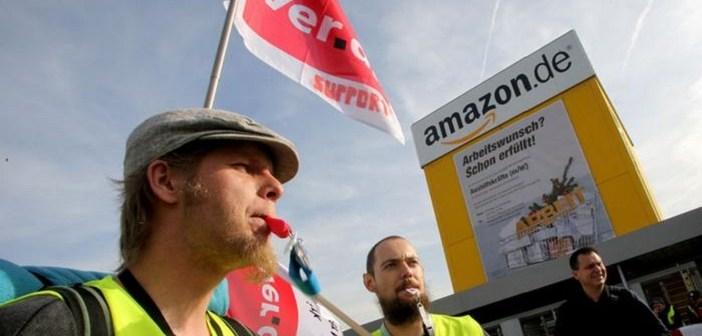 Amazon işçileri grevde : Madrid'de polis işçilere saldırdı!