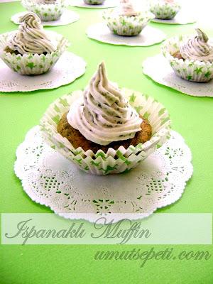 Ispanaklı Fındıklı Muffin