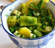 Patatesli Fasulye Salatası