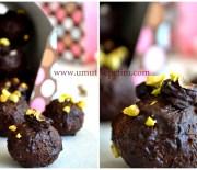 Antep Fıstıklı İncirli Çikolata Topları