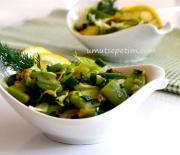 Yeşilli  Fasulye  Salatası  Tarifi