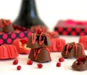 Narlı  Fındıklı  Çikolata  Kalpler
