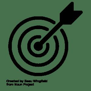 bullseye by Beau Wingfield from the Noun Project