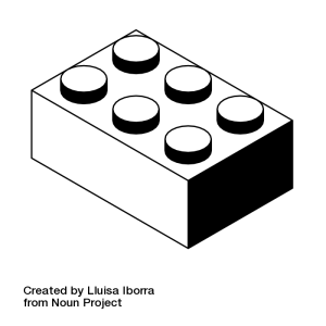 lego brick by Lluisa Iborra from the Noun Project