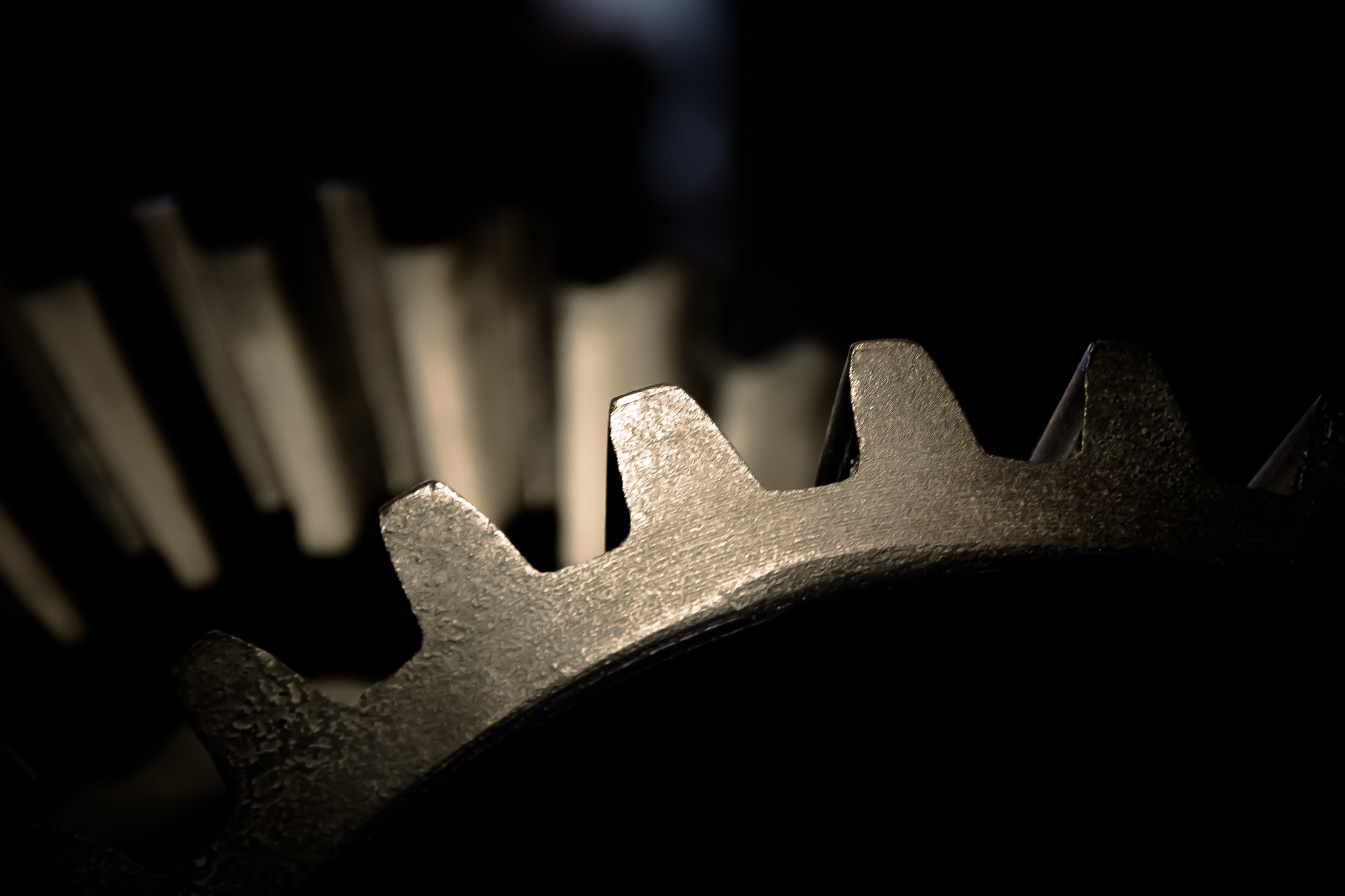 A dark photo of part of a gear by Mam'zelle Kaelle on Flickr