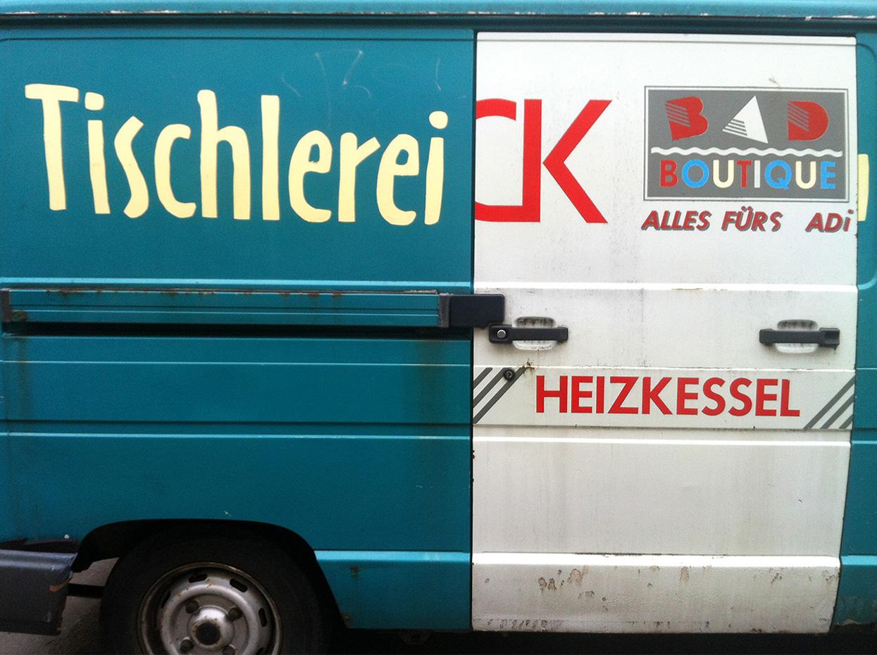 Tischlerei, Auto, Lieferwagen, Fundstück