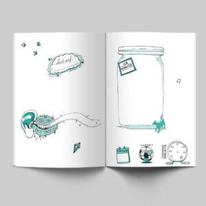 Innenseiten, Mein Buch für alle Tage, Katze, Ohrwurm,
