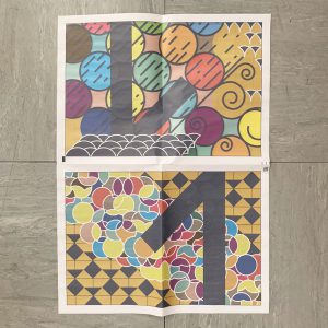 Zeitungspapier, Blatt, November, grafisches Muster,