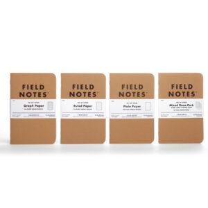 Field Notes, Klassiker, 4 Sorten Notizhefte, im 3er-Set,