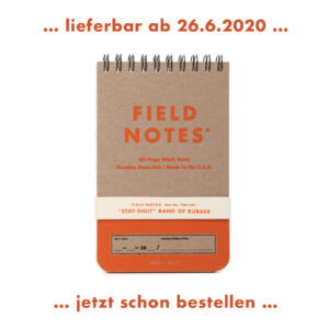 Field Notes, Heavy Duty, Schreibblock, ab 26.Juni lieferbar