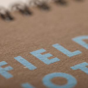 Field Notes, Heavy Duty, Schreibblock, blau siebgedruckt,