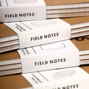 Field Notes, Notizhefte, Original, gestapelte Pächcken,