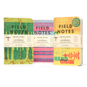 Field Notes, Letterpress Edition 2020, 9 Notizhefte,