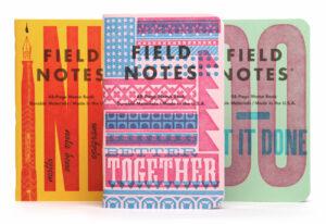 Field Notes, Letterpress Edition, 3 Notebooks,