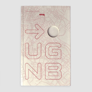 Urban Gridded Notebook, Wien, Notizbuch, mit linienhaften Plänen,