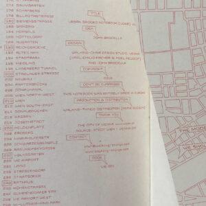 Urban Gridded Notebook, Innenansicht, fein linear Planausschnitte,