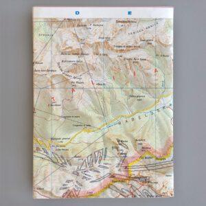 Notizbuch, Landkarte als Umschlag, Rückseite, 12 x1 6,5 cm