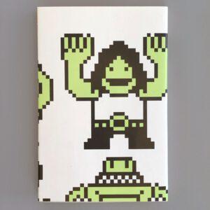 Notizbuch, grafischer Umschlag, Rückseite, 10 x1 5 cm
