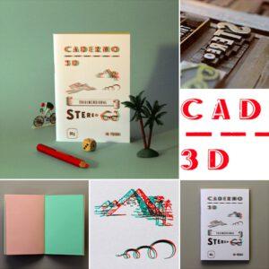 Serrote Notebook, 3D grünrot, Buchdruck gedruckt,