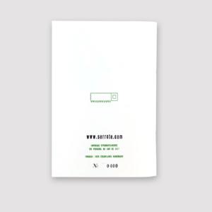 Serrote Notebook, Rückseite, limitiert, Thema Garten,