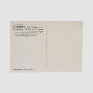 Spring, Postkarte, Rückseite, von Sophia Martineck, DinA 6,