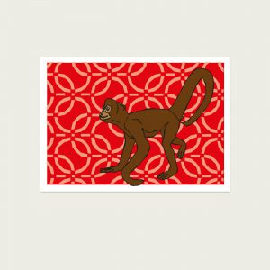 UMWERK - Tierkreiszeichen Postkarte AFFE