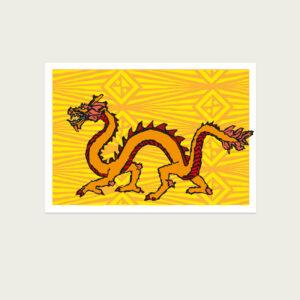 UMWERK - Tierkreiszeichen Postkarte DRACHE