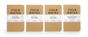 Field Notes, Originals, verschiedene Lineaturen,