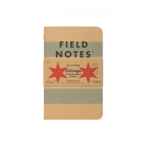 Field Notes, Chicago Edition, brauner Einband, Flaggenoptik,